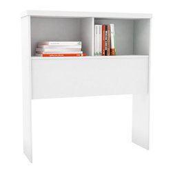 Sonax - Sonax Willow Bookcase Headboard in Frost White-Queen - Sonax - Headboards - H311LWB - Keep books alarm clocks and phone chargers handy with the Sonax Bookcase Headboard in their signature clean Frost White finish. Fit this bright Bookcase Headboard with their Storage Bed and the rest of the set including a nightstand and dresser each sold separately. All are crafted with special attention to detail making them easy to assemble. Bring home this contemporary furniture by Sonax proudly built in North America.