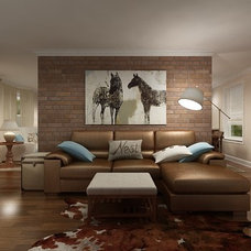 contemporary family room by Marie Burgos Design