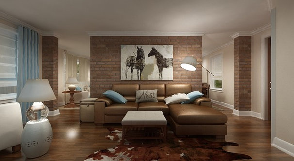 Contemporary Rendering by Marie Burgos Design