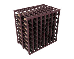 Wine Racks America - 8 Column 2-Deep Tasting Table in Pine, Burgundy + Satin Finish - The quintessential wine cellar island; this wooden wine rack is a perfect way to create discrete wine storage in open floor space. With an emphasis on customization, install LEDs or add a culinary grade Butcher's Block top to create intimate wine tasting settings. We build this rack to our industry leading standards and your satisfaction is guaranteed.