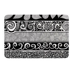 """KESS InHouse - Pom Graphic Design """"Tribal Evolution"""" Memory Foam Bath Mat (24"""" x 36"""") - These super absorbent bath mats will add comfort and style to your bathroom. These memory foam mats will feel like you are in a spa every time you step out of the shower. Available in two sizes, 17"""" x 24"""" and 24"""" x 36"""", with a .5"""" thickness and non skid backing, these will fit every style of bathroom. Add comfort like never before in front of your vanity, sink, bathtub, shower or even laundry room. Machine wash cold, gentle cycle, tumble dry low or lay flat to dry. Printed on single side."""