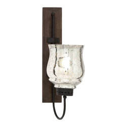 "Benzara - Metal and Wood Candle Sconce with Sturdy Construction - Metal and wood candle sconce with sturdy construction 21"" H. Improve the appearance of home interiors with this stunning wood metal candle sconce 9""W, 21""H which sports a minimalist vintage design that is perfect for blending in with classic styled settings. It comes with a dimension of 9"" W x 4"" D x 21"" H . Some assembly may be required."