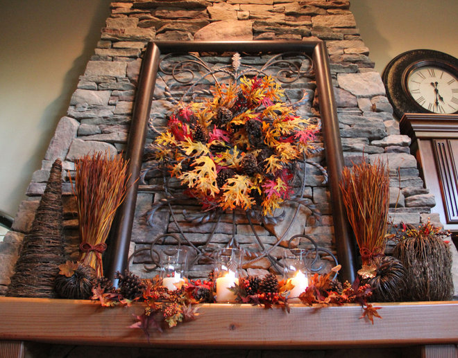 Traditional  Fall Mantle Display