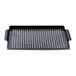 Zen Urban - Premium Nonstick Grill Topper Grilling Grid - -Perforations ensure heat rises evenly to grill kabob-size beef, chicken, seafood or vegetables without threading skewers