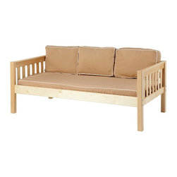 Maxtrix - Yo Slat Daybed - MXTX212 - Shop for Daybeds from Hayneedle.com! Solid strong and well-made the Yo Slat Daybed is crafted from solid birch hardwood and comes in your choice of nontoxic finishes so you can easily match your decor. A great bed for any child this bed includes a slat roll so you don't need a bunkie board as well a guardrail for younger children. The slatted ends add a classic look and the bed is built to meet or exceed ASTM standards. You also have the option of adding a trundle or storage drawers.Additional FeaturesLovely slatted endsMeets or exceeds ASTM standardsWe take your family's safety seriously. That's why all of our bunk beds come with a bunkie board slat pack or metal grid support system. These provide complete mattress support and secure the mattress within the bunk bed frame. Please note: Bunk beds and loft beds are only to be used by children 6 years of age or older.