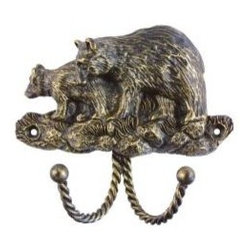 Traditional - A great addition to the rustic or western decor.  This wildlife decorative hook by Sierra will surely add a spark of interest and function to a mud room, child's room or an entry hall way.  Use it by itself or pair with several of the other choices by Sierra in the Wildlife and Western collection.