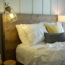 Farmhouse Bedroom by Christopher Kellie Design Inc.