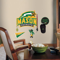 York Wallcoverings Inc - George Mason University Peel and Stick Giant Wall Decals with Hooks Multicolor - - Shop for Stickers from Hayneedle.com! Student or fan show your school spirit with the George Mason University Peel and Stick Giant Wall Decals with Hooks. This set of 10 wall decals and hooks make the perfect accent your favorite fan s decor. The full color graphic decals are removable and reusable. Included hooks are great for keys hats and more.About Roommates:Roommates a subsidiary of York Wallcoverings Inc creates some of the most versatile and unique wall decor you'll find. Their innovative wall decals feature a removable and endlessly reusable design allowing you to move and rearrange your decals as often as you like all without causing any damage to your walls or furnishings. This means you can apply them without worry or headache since you don't have to get the application perfect the first time. RoomMates work on any smooth surface and are particularly ideal for temporary decorating such as around the holidays. All RoomMates products are proudly made in the USA and are made from non-toxic materials so they're as safe for your kids and pets as they are for your walls.