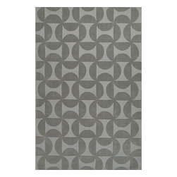 Jaipur Rugs - Jaipur Rugs Handmade Looped & Cut Wool Gray/Solid Area Rug, 8 x 11ft - This collections offers simple modern geometrics in all the fashion colors. Hand loomed in 100% wool each rug make a bold solid color statement to compliment contemporary interiors. The pattern and texture is created through a high/low loop and pile construction.