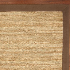 Color-Bound Flat-Braided Jute Rug - Espresso | Pottery Barn