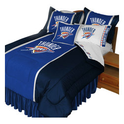Store51 LLC - NBA Oklahoma City Thunder Bedding Set Basketball Bed, Queen - Features: