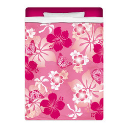 """Eco Friendly Hawaiian """"Aloha Pink"""" Twin Size Hibiscus Sheet Set - """"Aloha Pink"""" Twin Size Hawaiian Hibiscus Sheet Set is made of a lightweight microfiber for the ultimate experience in softness~ extremely breathable!"""