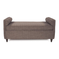 Howard Elliott - Coco Cosmopolitan Daybed - Lounge in style on our Cosmopolitan Daybed. Its sturdy size and construction make it perfect for any sitting room. With built in bolsters and large cushion you may want to take a nap! Seat height is 22.
