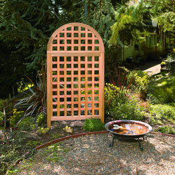 Phat Tommy - Phat Tommy Andover Arch Screen - Add a touch of elegance to your garden or landscape with this arch screen. This Andover Arch features a finely milled arched cedar frame with finger jointed,furniture style construction.