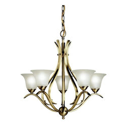 Kichler Lighting - Kichler Lighting - 2020AB - Dover - Five Light Chandelier - Bulb Not Included