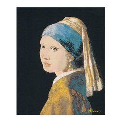 The Girl With The Pearl Earing Belgian Wall Tapestry(H33xW28) - Tapestry Catalog
