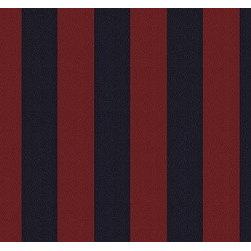 Stubb Club Stripe in Navy/Port - The stripe fabric Stubb Club Stripe in Navy/Port