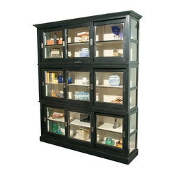 EuroLux Home - New Cabinet Tall Display Cabinet Black - Product Details