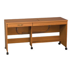 "Sewingrite - Sewingrite Model 898L Ultimate Multifunction Sewing Table Rustic Maple - Sewing tables are used for sewing but are more often used for utilities such as cutting and layout. Model 898L Ultimate Multifunction Table. Dimensions: 60"" Wide x 19 3/4"" (open 35 1/2) Deep x 30 1/4"" High. Insert opening is 27"" (x 11 3/4"" clearance). Shipping Weight: 116 lbs."