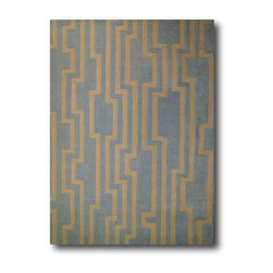 Signature Style - New York Design, Pure NZ Wool Rug, 6 x 8 Ft., Light Gray/Ivory - 6 x 8 Ft. HandTufted Pure NZ Wool Rug