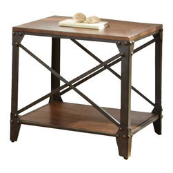 Industrial 20 inch side table side end tables find side for 10 inch high table