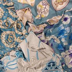 Home Decor GH Rainwater Blues Decorator Fabrics - Home Decor Fabric