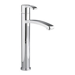 American Standard - Berwick Single Control Vessel Bathroom Faucet with Grid Drain in Polished Chrome - American Standard 7430.152.002 Berwick Single Control Vessel Bathroom Faucet with Grid Drain in Polished Chrome.