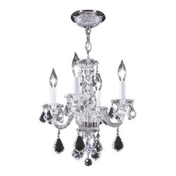 James R Moder - 95743S11 James R Moder Mini Chandelier - In most designs, the major cost of a Crystal Chandelier is the price of the Crystal components. The quantity and shapes of the Crystal utilized to trim the Chandelier and most importantly, as in grades of diamonds, the crystal quality determines the price. James R Moder  Crystal offers at a lower price (-11), Swarovski  Spectra  Crystal, an alternate high quality crystal trim. These Crystal Chandeliers are trimmed with a 100% Swarovski  Spectra  Crystal components, manufactured in Austria. Except Promo 1 Chandeliers as described in the catalog.
