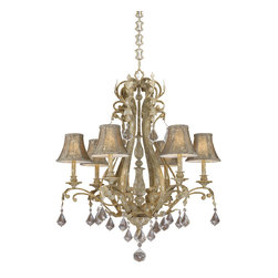 Vaxcel - Empire Phoenician Platinum 6 Light Chandelier - Vaxcel EP-CHS006PP Empire Phoenician Platinum 6 Light Chandelier