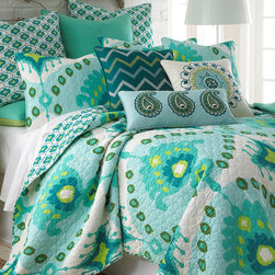 Levtex Home - Bukhara Quilt Set - Redesign your bedroom with this brilliantly patterned cotton quilt set. It is machine-washable for easy cleaning. �� Includes quilt and two shams 100% cotton Machine wash; tumble dry Imported