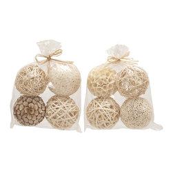 Wonderful Natural Decorative Ball, Set of 2 - Description: