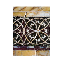 Bathroom stone floor tiles (Mediterranean Style) - Wall Cladding Stone by 'Ancient Surfaces'