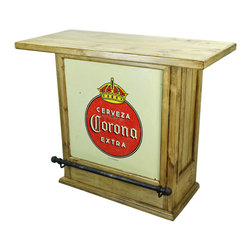 Corona Mini Bar - This Corona Mini Bar is made out of recycled wood and comes direct from Mexico. Forged Iron Accents adorn this hand crafted beauty. Hand made and hand finished. Goes great with any Southwestern Decor, Rustic Decor, Hacienda Design Style or Mexican Themed Furniture Design Style. You will not be disappointed. Limited stock, order now!