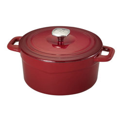 Guy Ferri - GUY FERRI   3.5QT CAST IRON DUTCH OVEN RED - GUY FERRI 3.5QT CAST IRON DUTCH OVEN RED