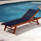 Teak Sun Lounger with Mesh Fabric - This sun lounger is great looking. I like the luxurious feel of the teak frame but the fact that it has breathable mesh for the hammock so you can dry off and stay cool.