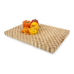 Core Bamboo Kitchenwares - For the professional and home cook alike, this x-large, rectangular top grade bamboo chop block can be found in gourmet kitchens around the world. Made from the finest bamboo and designed with the professional in mind, Core Bamboo's checkered chop block is a staple for the chef where nothing but the best will do.