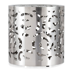 ZUO ERA - Kihei Stool Stainless Steel - Random yet harmonious, the Kihei's unique design yet functional shape can be used for seating or as a stand. 100% stainless steel.