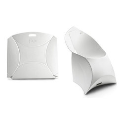 Flux Furniture - Flux Chair, Pure White - Award-winning Dutch design that looks like a giant envelope; turns into a designer chair. Simple. One craftily cut sheet of sustainable polypropylene and a variety of modern colours to choose from; zero tools necessary.