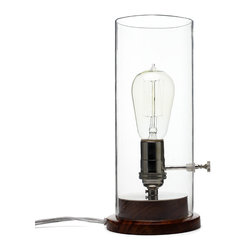 Edison Lamp - Update your lantern with a little electricity and retro style. The soft glow of the Edison lamp allows you to read in bed while your partner sleeps undisturbed next to you.