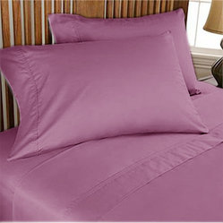 1000TC Egyptian Cotton Sheet Set 4pc Lavender - FREE USA SHIPPING