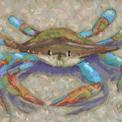 Roweboat Art Inc - Mr. Crab, Fine Art Reproduction, 20X16 - Original painting reproduction