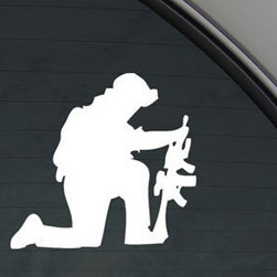 Awol From Military With Gun Wall Stickers Superb Choice in Kitchen - Awol From Military With Gun Wall Stickers
