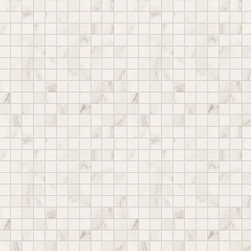 """Marca Corona - Deluxe White Reflex 1"""" x 1"""" Mosaic - Sold by the Piece"""