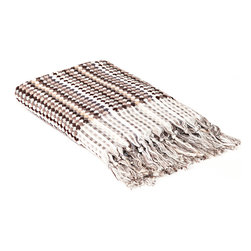 """Indigo&Lavender - 36"""" x 59"""" Turkish Bath Sheet, Black, Brown - Hand-loomed in Turkey, with exquisite hand-tied tassels, this wonderful bath sheet is wonderfully thick and luxuriously soft."""
