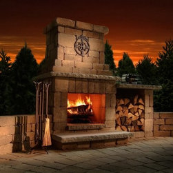 Necessories Colonial Outdoor Fireplace - Please note: This item does not include to-the-door delivery. This item includes curbside delivery.Get more use out of your backyard with the Necessories Colonial Outdoor Fireplace. Perfectly sized for smaller outdoor living spaces, this is the perfect do it yourself fireplace for you. It's made of tough stone and comes with everything you need to build a handsome, warming addition to your outdoor living space. It includes pre-cut concrete block sized to fit, steel reinforcements, Super-Stik adhesive, gloves, and easy-to-read instructions. It builds in an afternoon so when you're done you'll have a beautiful fireplace and have time to show off your hard work. It's available in a variety of color options so your fireplace will blend in with the style of your decor easily.Note: Review any building restrictions or construction permit requirements before installation of an outdoor fireplace. Contact your local zoning commission/homeowners association for details.About NecessoriesNecessories is a third generation family business based in Rochester, Minnesota. Necessories has a solid foundation in mortarless concrete manufacturing and construction that dates back to 1914. They are recognized as an innovator of attractive, high-quality landscape construction materials. Necessories is a collection of Outdoor Living Kits. This is a unique line of outdoor living kits that make hardscaping affordable and easy. Each kit comes packaged with all you need to build including pre-cut concrete block, Super-Stik adhesive, and easy-to-read course by course assembly instructions. These outdoor living kits require no cutting, no guessing, no hassles -- no problem.