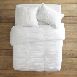 Parachute Duvet Cover + Shams, White - There is nothing better than crisp white bedding. Well, except for crisp white bedding that looks somewhat squidgy. I adore this set.
