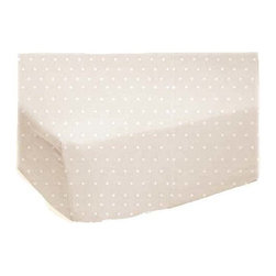 "SheetWorld - SheetWorld Fitted Crib / Toddler Sheet - Cream Pindot Jersey Knit - Made in USA - This luxurious plush 100% cotton ""jersey knit"" crib / toddler sheet is made of the highest quality fabric that's measured at 150 gsm (grams per square meter). That means these are softer than your favorite t-shirt, and as soft as flannel. Sheets are made with deep pockets and are elasticized around the entire edge which prevents it from slipping off the mattress, thereby keeping your baby safe. These sheets are so durable that they will last all through your baby's growing years. We're called SheetWorld because we produce the highest grade sheets on the market today. Features a tone on tone tiny cream pindot on a solid cream background. Size: 28 x 52."