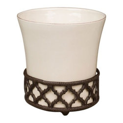 GG Collection - The GG Collection Ogee-G Wastebasket Cream - The GG Collection Ogee-G Wastebasket Cream