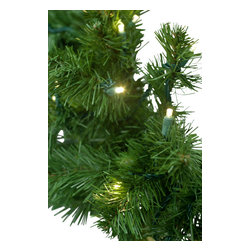 """Seasonal Source - 9' X 14"""" Pre-Lit LED Deluxe Oregon Fir  Garland, 100 Warm White LED Lights - Our commercial quality 9' x 14"""" Pre-Lit 5mm LED Oregon Fir garland is thick, luxurious and rated for indoor and outdoor use.  You will enjoy the realistic color and durability of the UV resistant PVC tips."""
