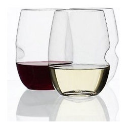 Govino Shatterproof Stemless Wine Glasses - This different take on the stemless wineglass would look lovely on a table set for a warm and inviting dinner party.